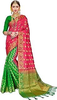 Sarees for Women Banarasi Art Silk Woven Work Saree l Indian Wedding Ethnic Wear Sari & Blouse Piece