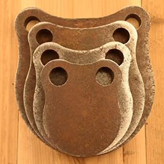"""1/2"""" Thick AR500 Steel Shooting Targets 3"""" 4"""" 5"""" 6"""" Gong Set"""
