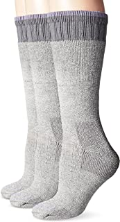 Women's Heavyweight Merino Wool Blend Boot Sock-3 Pair Pack Bundle