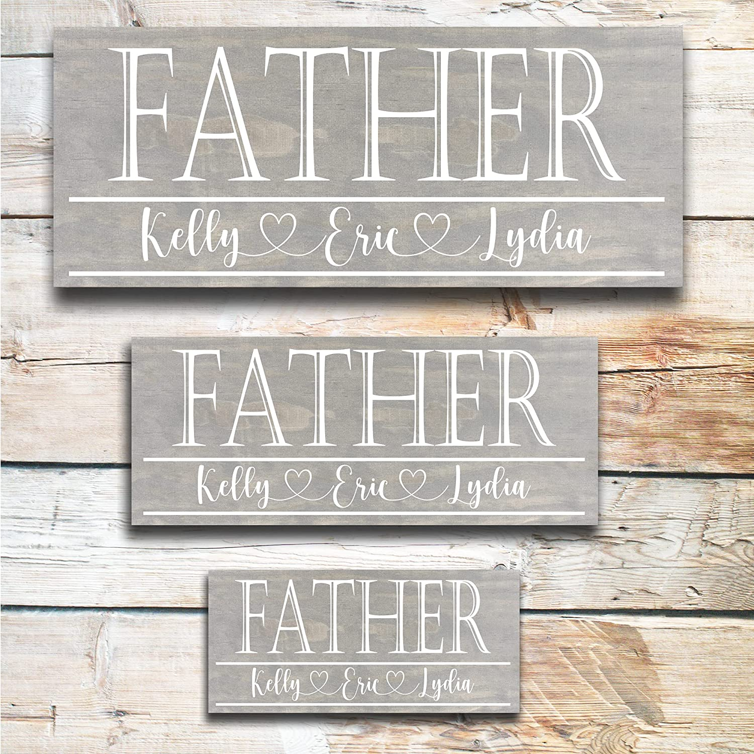 Father's Genuine Free Shipping NEW before selling ☆ Day Sign Great Gift Dad Personalized
