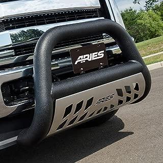 ARIES AL45-4016 Big Horn 4-Inch Black Aluminum Bull Bar Select Chevrolet Silverado, Suburban, Tahoe, GMC Sierra, Yukon
