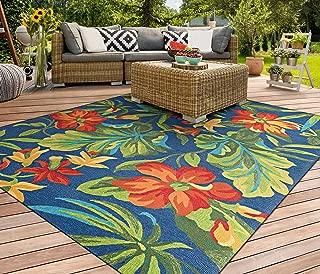 Best tropical indoor outdoor area rugs Reviews