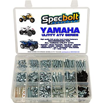 150pc Specbolt Bolt Kit for Yamaha UTILITY ATV including all Grizzly Warrior Wolverine Big Bear Tracker Breeze Timberwolf Rhino YFM YTZ for Maintenance /& Restoration using OEM Spec Fasteners for Quads