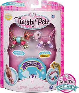 Twisty Petz Collectible Bracelet Set, Unicorn, Puppy & Surprise Pet 3-Pack