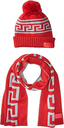 Versace Kids - Greca Hat & Scarf Set (Toddler/Little Kids)
