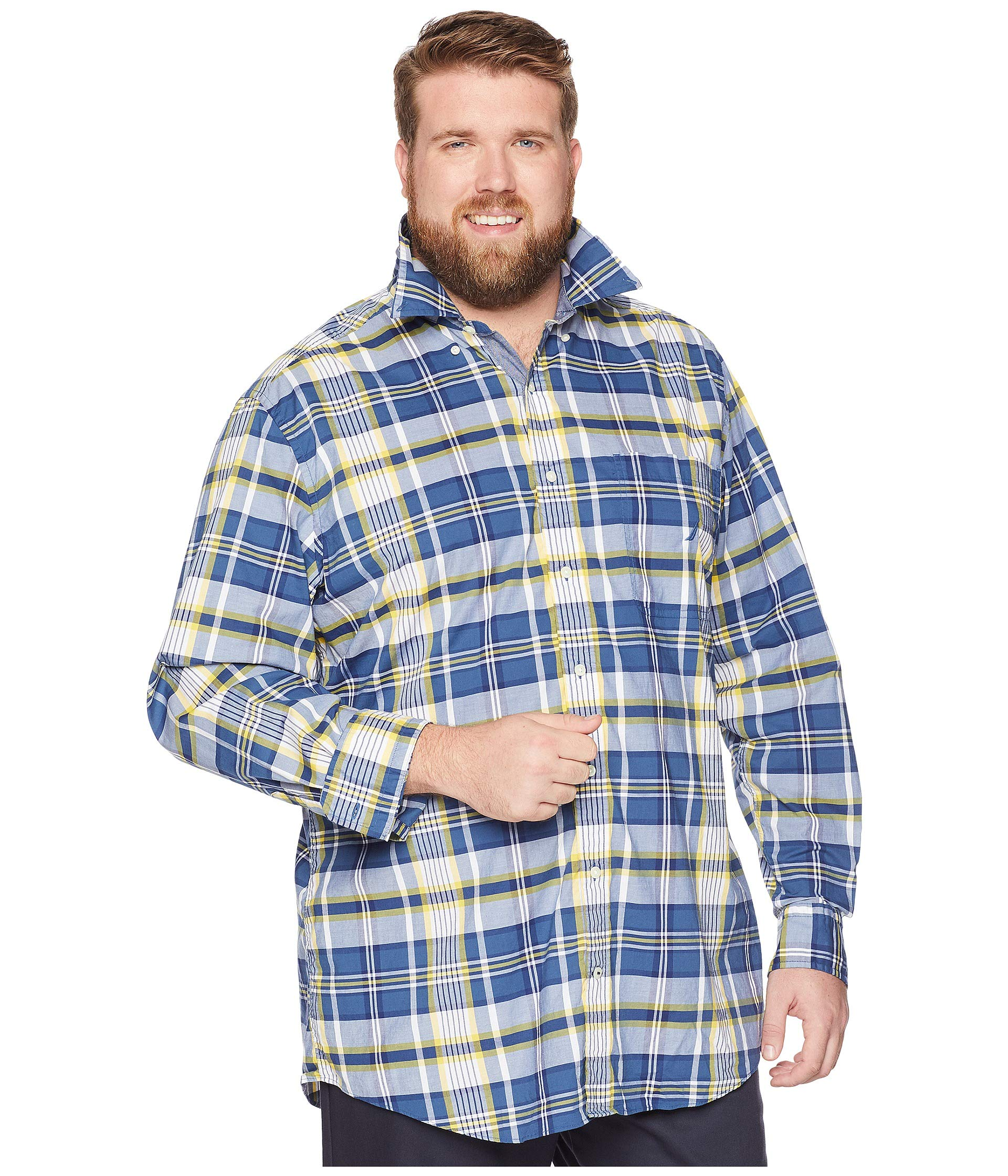 Ensign Big Nautica amp; Blue Casual Tall Plaid Shirt qaAA4nrc