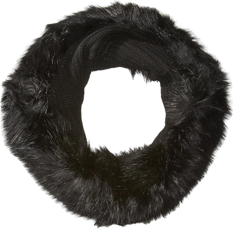 A X Armani Exchange Women's Wool Tube Scarf With Faux Fur Trim