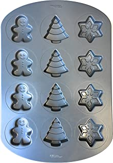 Wilton Winter-Holiday Cookie Baking Pan (Snowflakes, Christmas Trees, Gingerbread Men)
