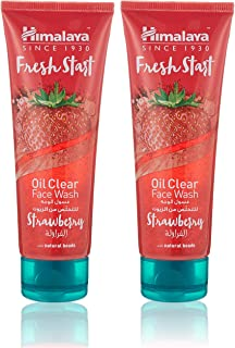 Himalaya Face Wash Fresh Start Oil Clear Strawberry, 2 x 100 ml