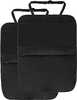 AmazonBasics Waterproof Car Seat Protector, Kick Mat and Back Seat Storage Organizer, 3 pockets, iPad Tablet Holder