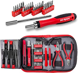 Hi-Spec 38 Piece Repair & Opening Tool Kit Set with Precision Screwdriver Bits for Electronics & Computers, Mobile Smart Phones, Laptops, Game Controllers & Gadgets. All In a Zipper Case