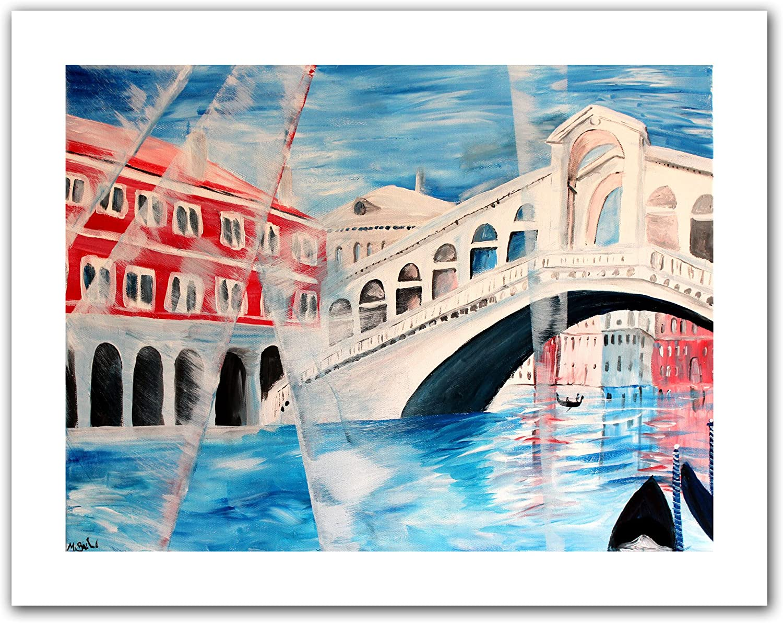 Art Wall 'Rialto Bridge' Unwrapped Canvas Artwork by Martina Bleichner, 22 by 28Inch