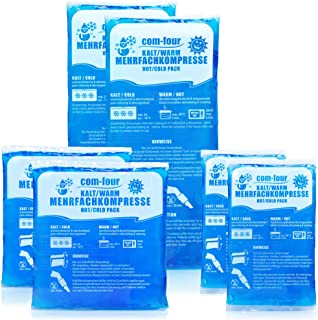 COM-FOUR® Bargain Pack Multi-Purpose Reusable Compress i 3 storlekar - Gel Pad Hot & Cold - Cool Pack - Mikrovågsskydd (2x...
