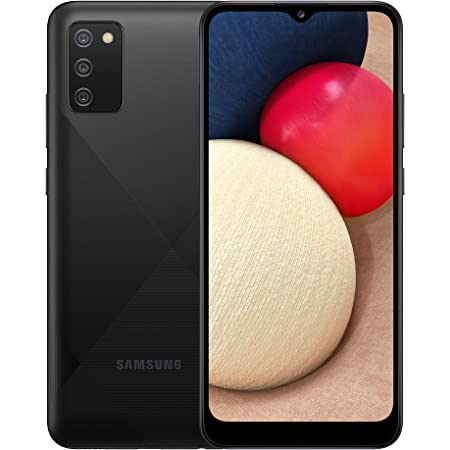 Samsung Galaxy A02s 4G Smartphone 6.5 Inch Infinity-V HD + Screen 3 Rear Cameras 3 GB RAM and 32 GB Expandable Internal Memory 5,000 mAh Battery and Fast Charge - Black (UK Version)