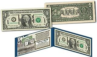 HAWAII $1 Overprint WWII Emergency Pearl Harbor on NEW MODERN Legal Tender U.S. $1 Bill
