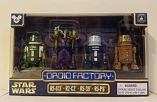 Disney Parks Star Wars 2017 Droid Factory 4 Pack R5-013 R2-C2 R5-S9 R5-P8