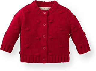 Hope & Henry Layette Girl Bobble Sweater