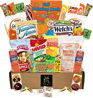 Fall - Halloween Snacks - 40 Pieces Campus Care Package - Great For College, Kid, Adult, Student, Teens, Families - Includes Lots Of Treats Candy And Snacks (Fall Care Package)