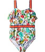 Ribbon Trim One-Piece Swimsuit (Toddler/Little Kids/Big Kids)