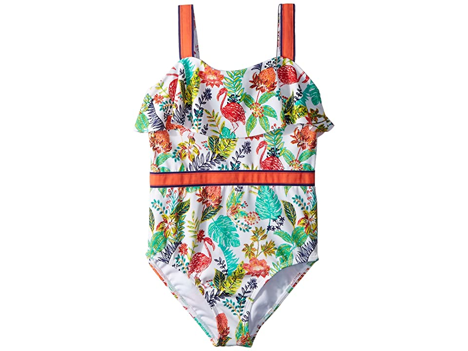 80bb4534c3 Janie and Jack Ribbon Trim One-Piece Swimsuit (Toddler Little Kids Big