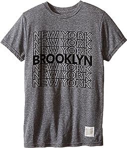 The Original Retro Brand Kids - Brooklyn New York Short Sleeve Tri-Blend Tee (Little Kids/Big Kids)