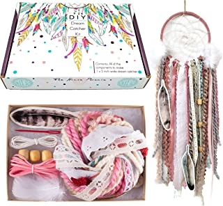 DIY Dream Catcher Kit for Kids Pink Arts and Crafts Kit Make Your Own Dreamcatcher Kit Stocking Stuffer Christmas Gift for Girls