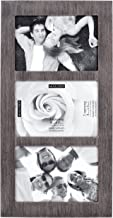 Malden International Designs Distressed Wood Collage Picture Frame, 3 Option, 3-4x6, Rough 3-OP. 4X6 GRAY RIDGE LINEAR