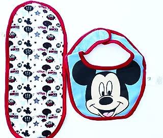 Disney Bib & Burp Cloth, Mickey Mouse