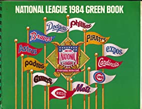 National League Green Book-MLB Baseball Yearbook 1984-pix-info-stats-FN/VF
