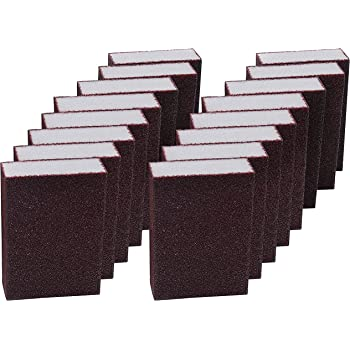 SUPVOX 5PCS Abrasive Hand Sanding Foam Sponge Blocks Grinding Pad for Furniture Wall Floor Grinding Kitchen Cleaning Hand Tool