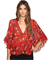Free People - Bright Lights Embroidered Top