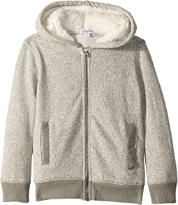 Marled Fleece Hoodie (Little Kids/Big Kids)