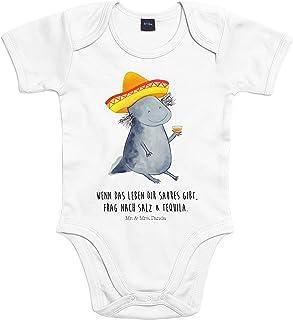Mr. & Mrs. Panda Strampler, Bodysuit, 3-6 Monate Baby Body Axolotl Tequila mit Spruch - Farbe Transparent