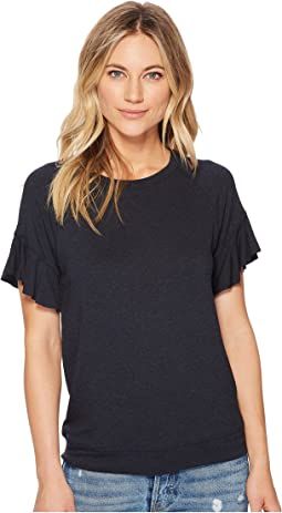 Michael Stars Elevated French Terry Flutter Sleeve Tee