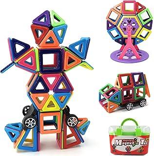 Magnetpro Bloques de construcción magnéticos Niños 108 Piezas Juguetes magnéticos, Juguetes educativos 3D, Regalo de cumpl...