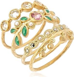 [FATRAS ] FATRAS SV925·粉红色托玛琳·Samsara堆积戒指