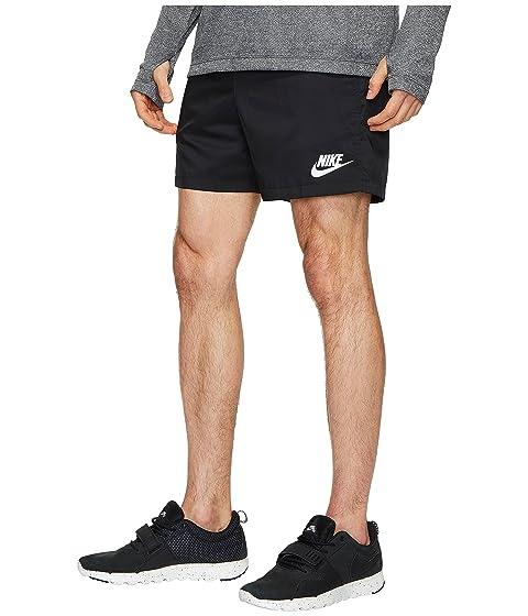 Short Nike Blanco Flow Negro Woven Blanco 010aEqUwB
