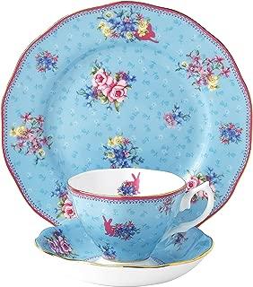 Royal Albert Candy 3 Piece Teacup, Saucer and Plate Set, 8