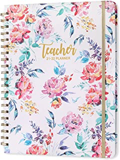 """2021-2022 Teacher Planner - Academic Lesson Planner with Quotes, Jul. 2021-Jun. 2022, 9.3"""" x 11"""", Weekly and Monthly Pages..."""