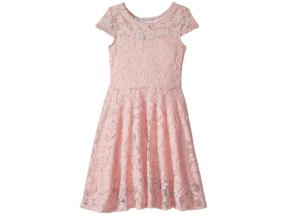 fiveloaves twofish Aurora Lace Skater Dress (Little Kids/Big Kids) (Pink) Girl