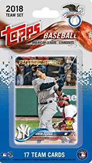2018 Topps American League All Star Standouts Factory Sealed Limited Edition 17 card set with Mike Trout, Aaron Judge, Jose Altuve and Mookie Betts Plus