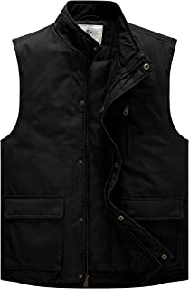 Men's Stand Collar Cotton Insulated Vest Outdoor