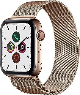Apple Watch Series 5 (GPS+Cellular, 44 mm) Acero Inoxidable en Oro - Milanese Loop Oro