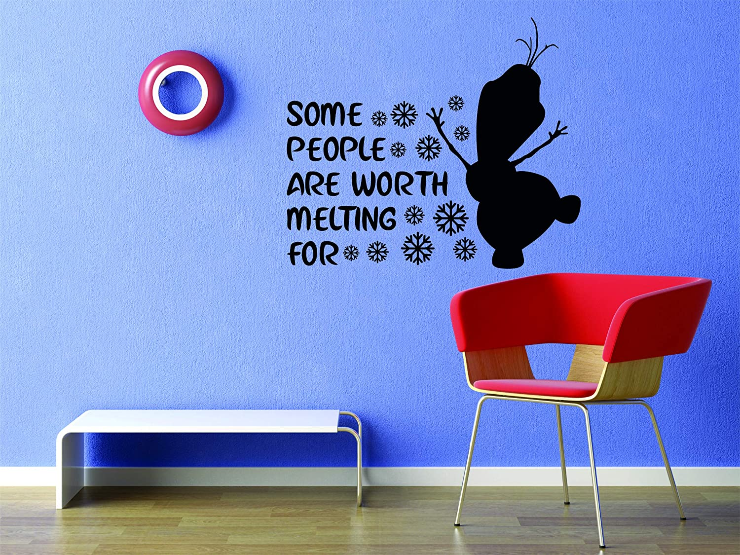 Details about  /Olaf Worth Melting For Frozen Show Vinyl Art Stickers For Home Room Walls Decals