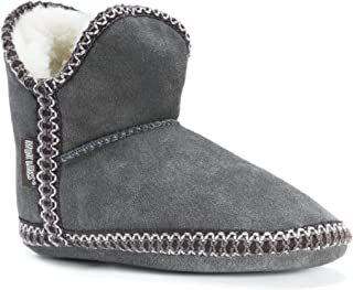Womens Maddy Amira Slippers with Faux Sherpa Lining