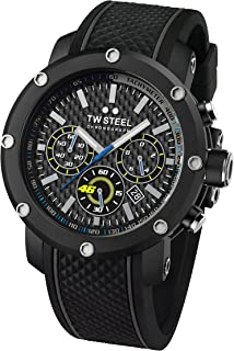 TW Steel Men's Quartz Watch Chronograph Display and Silicone Strap, TW-TW937