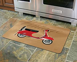 "product image for Novelty Vintage Vespa Accent Mat by Dominique Vari, 23"" x 36"", Multicolor"