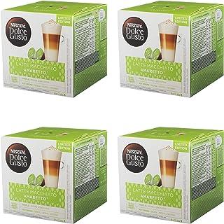 Nescafé Dolce Gusto Latte Macchiato Amaretto 4er Set, Kaffeekapsel, Kaffee, 4 x 16 Kapseln (32 Portionen)