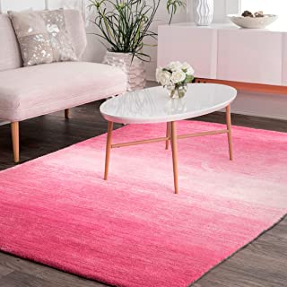 nuLOOM Bernetta Hand Tufted Ombre Area Rug, 5' x 8', Pink
