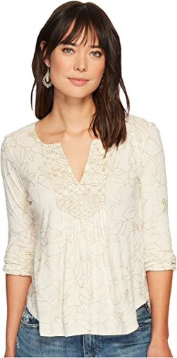 Lucky Brand - Foil Printed Top